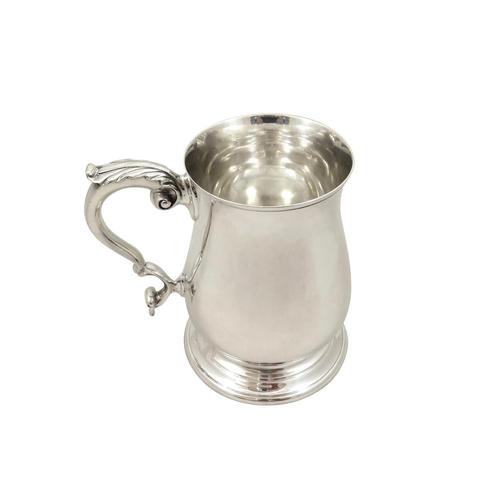 Vintage Sterling Silver Pint Mug / Tankard 1963 (1 of 9)