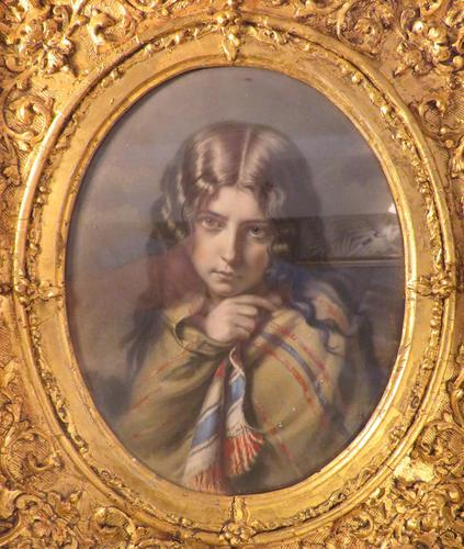Aquatint Engraving 1880 Girl With a Shawl (1 of 3)