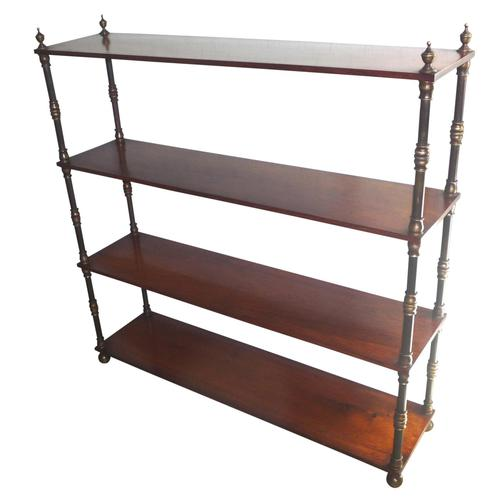 Fine Rosewood Bookshelves with Brass Turnings c.1840 (1 of 2)