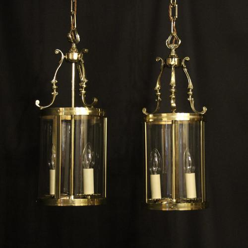 French Pair of Convex Twin Light Antique Lanterns (1 of 10)