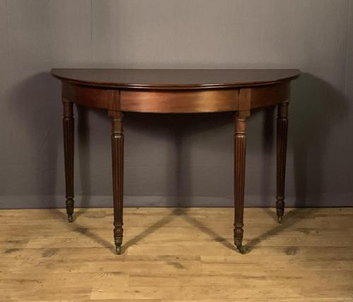 Regency mahogany Demi lune console table (1 of 8)