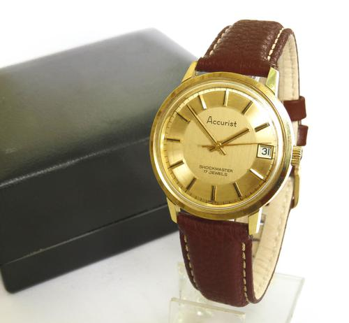Gents 1970s Accurist Wrist Watch (1 of 5)