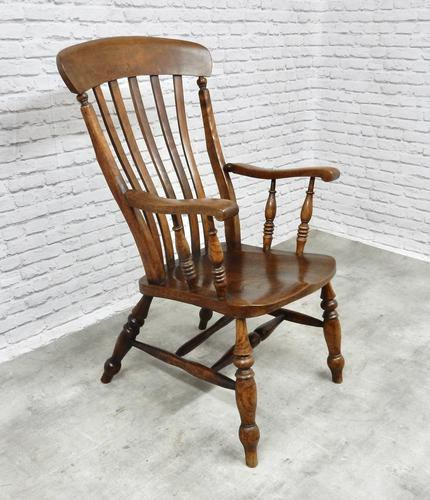 Large Windsor Lathback 'Grandfather' Armchair (1 of 5)