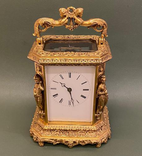 Rare French Mid 19th Century 'Caryatid' Cased Carriage Clock – Lucien Paris (1 of 6)