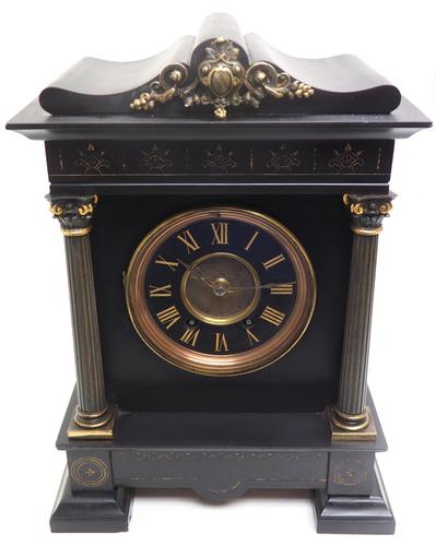 Amazing French Slate 8 Day Striking Heavy Quality Mantle Clock (1 of 12)