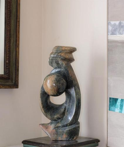 Large Abstract Carved Stone Sculpture (1 of 6)