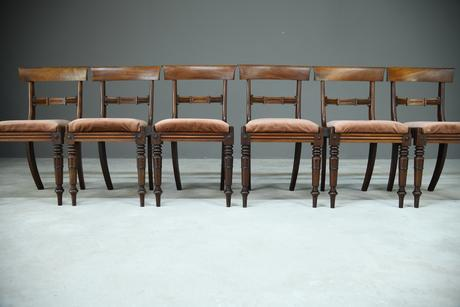 6 Mahogany Bar Back Dining Chair (1 of 8)