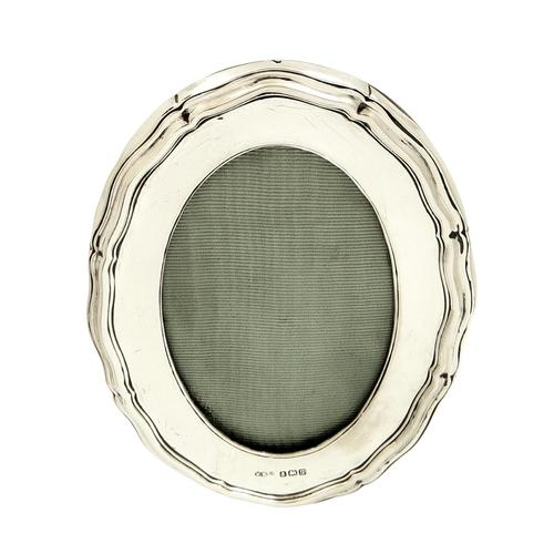 """Antique Sterling Silver 4 1/2"""" Oval Photo Frame 1915 (1 of 9)"""