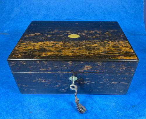Victorian Coromandel Box with Mother of Pearl Escutcheons (1 of 14)