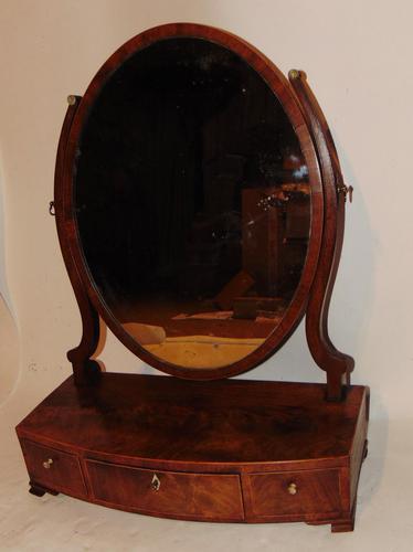 Sheraton mahogany toilet mirror (1 of 6)