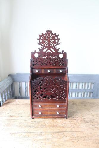 19th Century Scottish Vernacular 'folk Art' Thistle Fretwork Spoon & Candle Box (1 of 36)