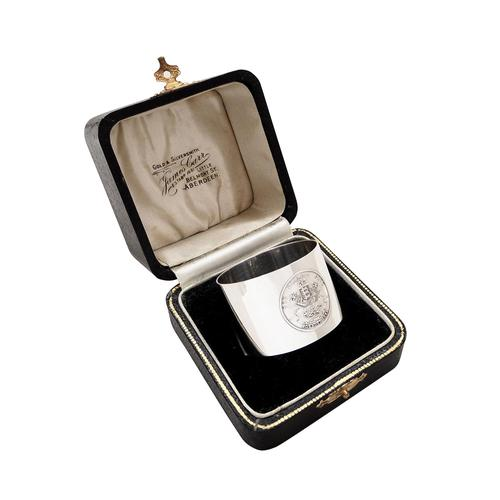 Sterling Silver 'Kennel Club' Napkin Ring in Case 1931 (1 of 8)