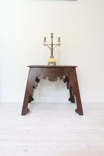 Arts & Crafts, Liberty Style Anglo-moorish / Arabesque Lamp Table c.1910 (1 of 41)