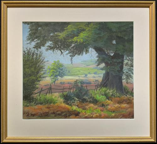 'Lincolnshire Summer' - Fine Mid Century English Landscape Watercolour Painting (1 of 11)