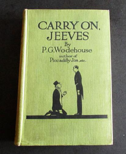 1925 1st Edition. Carry on Jeeves by P G Wodehouse (1 of 3)