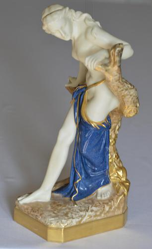 1919 Royal Worcester 'bather Surprised' Figure Modelled by Sir Thomas Brock (1 of 11)