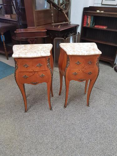 Pair of French Marble Top Tables (1 of 6)