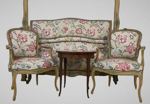 French Roll End Style Double Bed Frame With Matching Armchairs & Side Table (1 of 17)