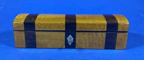 William IV Fruitwood and Rosewood Glove Box. (1 of 8)