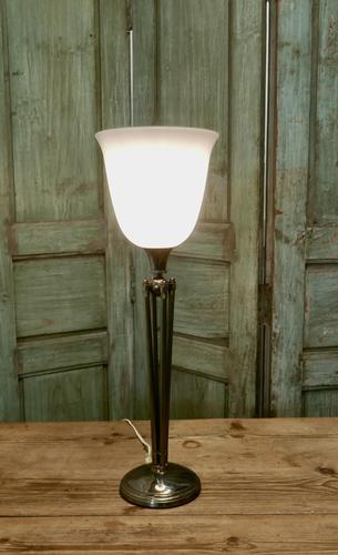 Tall French Art Deco Table Lamp (1 of 5)