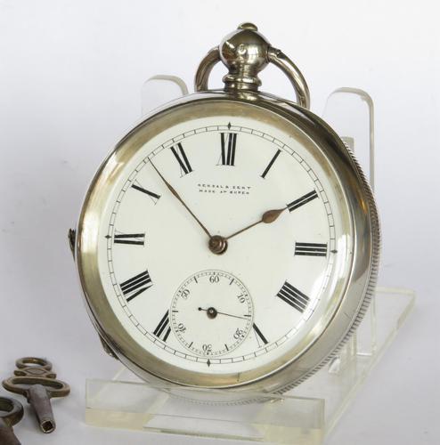 Antique silver Buren pocket watch for Kendal & Dent (1 of 5)