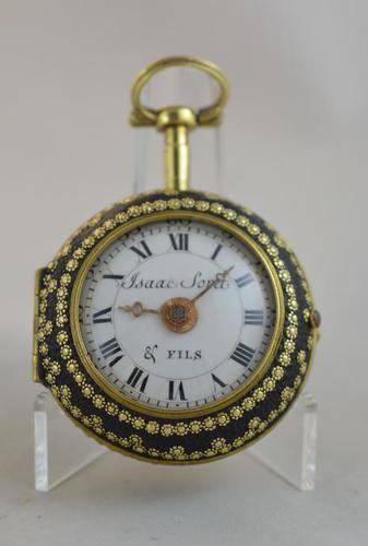 Issac Soret & Fils c.1750 Verge Pocket Watch (1 of 6)