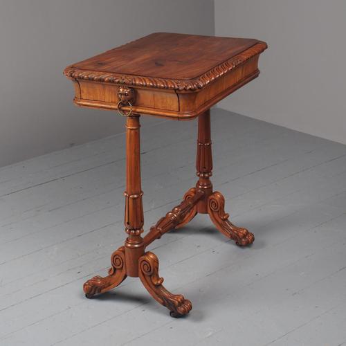 Antique Regency Mahogany Side Table (1 of 19)