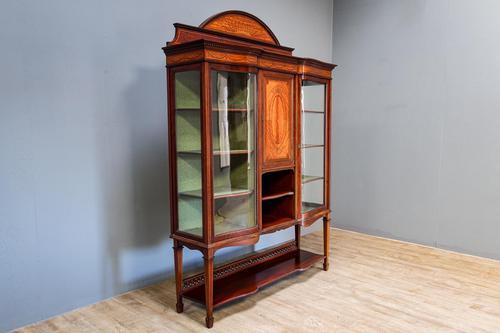Inlaid Mahogany Display Cabinet (1 of 9)