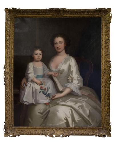 18th Century Portrait of Mrs Gouldney & Daughter (1 of 7)