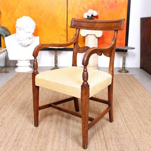 Armchair Fruitwood Desk Library Chair 19th Century Victorian Carved (1 of 11)