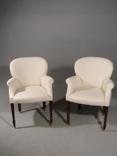 Elegant Pair of Early 20th Century Armchairs (1 of 5)