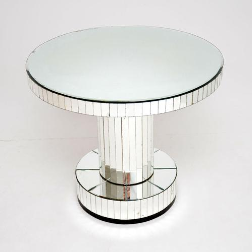 Original Art Deco Period Mirrored Glass Occasional / Coffee Table (1 of 14)