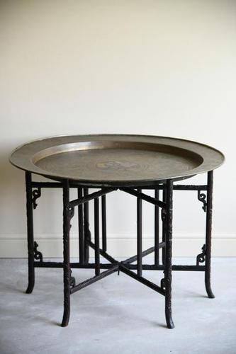 Chinese Brass Tray Coffee Table (1 of 12)