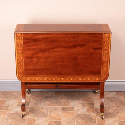 Inlaid Mahogany Edwardian Sutherland Table (1 of 19)