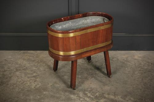 Oval Mahogany Planter / Wine Cooler (1 of 10)