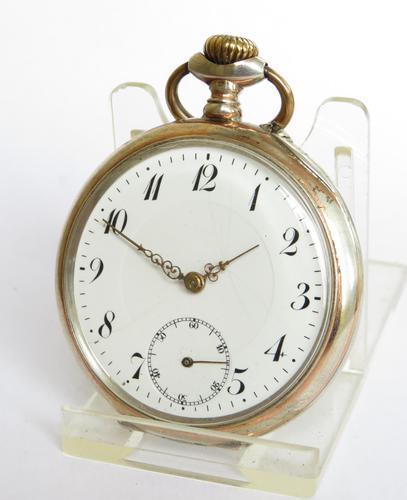 Antique Silver Essor Pocket Watch (1 of 5)