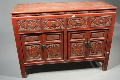 Finely Carved Early 20th Century Oriental Sideboard (1 of 6)