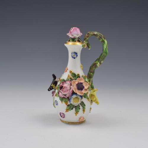 Spode Porcelain Bird & Flower Encrusted Scent / Perfume Bottle (1 of 13)