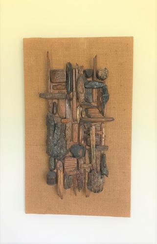 Original Hanging Wood Construction of 'Objet Trouve' by Ken Walch 1927-2017 (1 of 4)