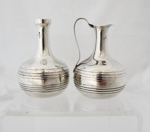 Edwardian Silver Miniature Ewer & Vase set Birmingham 1905 (1 of 4)