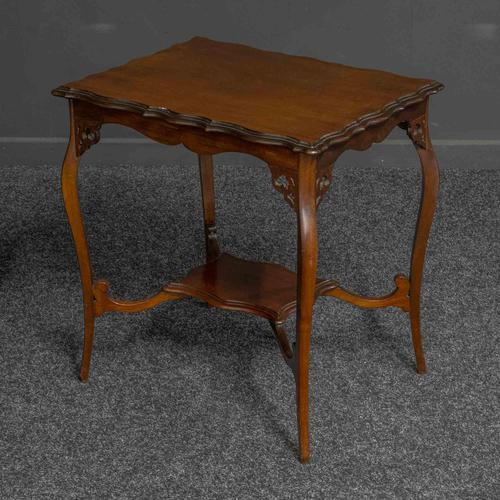 Edwardian Mahogany Window Table (1 of 8)
