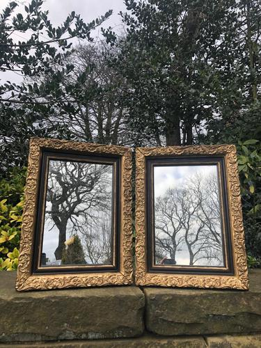 Pair of Antique English Gilt Framed Mirrors (1 of 5)