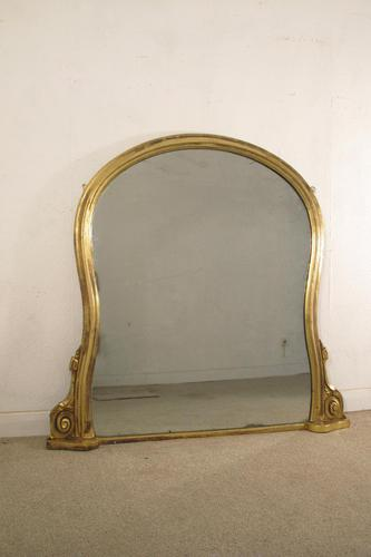 Victorian Gilt Overmantle Mirror (1 of 6)