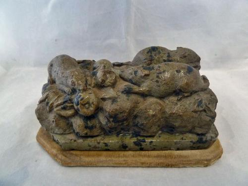 Chinese 19th Century Hardstone / Soapstone Carving of a Group of Rats (1 of 8)
