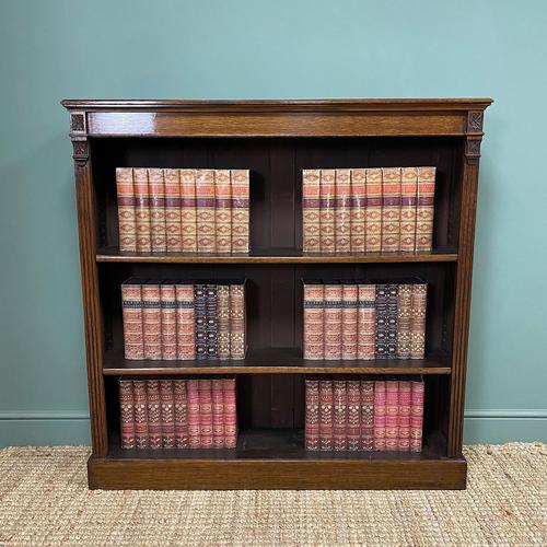 Quality Arts & Crafts Victorian Oak Large Open Bookcase (1 of 6)