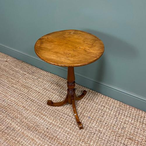 Georgian Country House  Elm Antique Tripod Table (1 of 6)