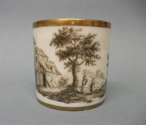 French (Paris) Hand-Painted Coffee Can, c.1810 (1 of 4)