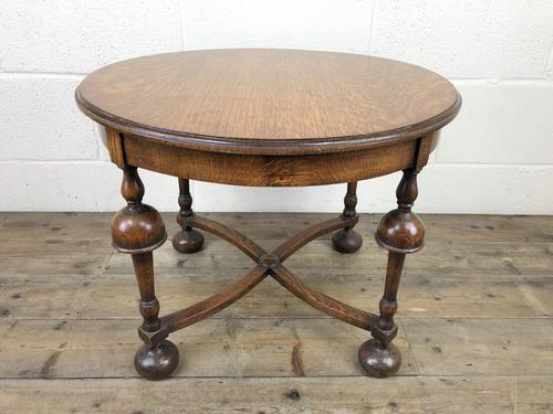 Early 20th Century Antique Oak Circular Occasional Table (1 of 6)