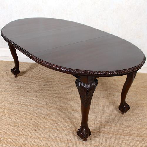 Dining Table Victorian Mahogany 19th Century 6 Seater Carved Cabriole (1 of 12)