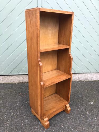Arts & Crafts Oak Waterfall Open Bookcase (1 of 7)